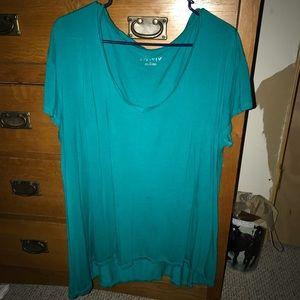 Turquoise shirt. Size XL